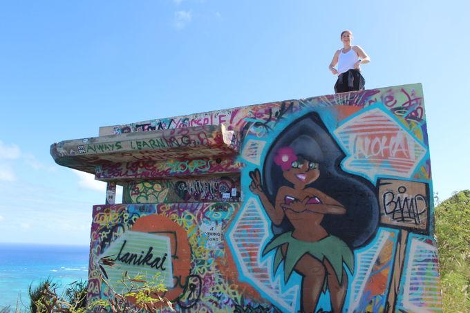 2.ラニカイビーチを見下ろす!ピルボックスへの絶景ハイク
