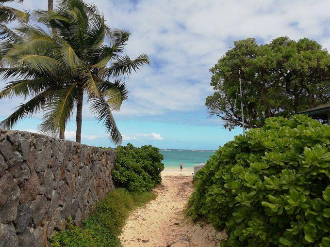 3.「天国の海」ラニカイビーチの海を楽しむ