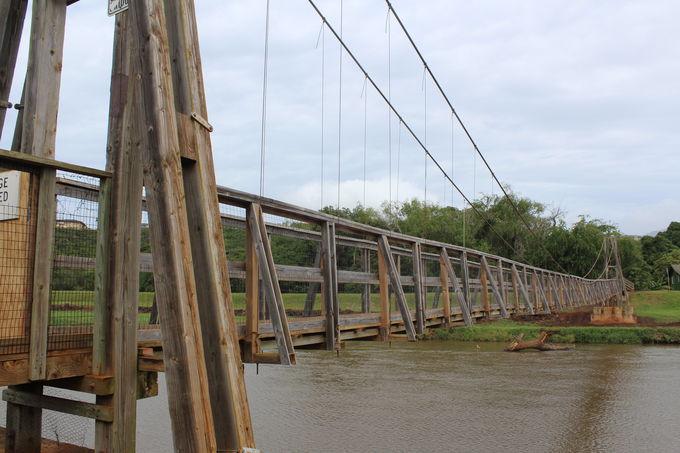 町のシンボル!今に残る木製吊り橋
