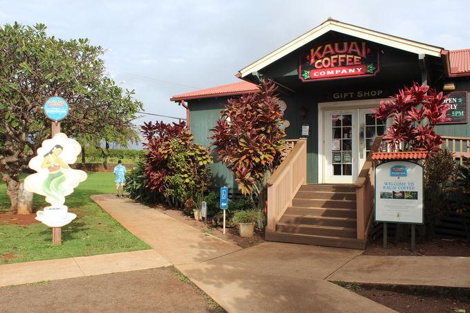 コーヒー農園併設のカウアイコーヒーカンパニー直営店