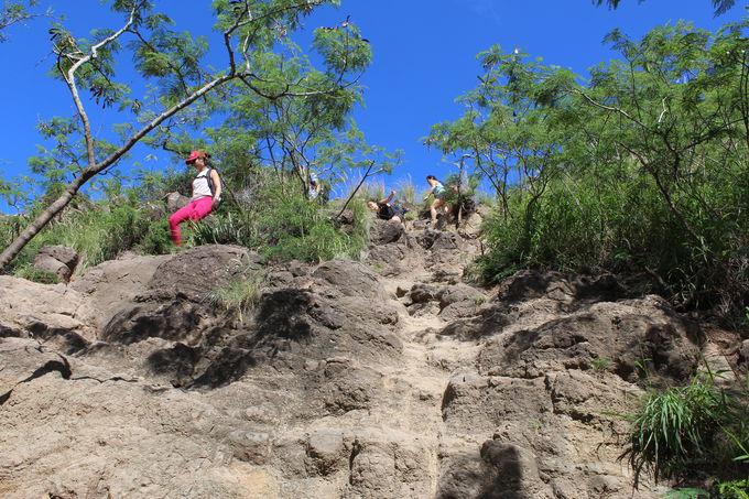 小高い丘の稜線歩きが気持ちいい〜!