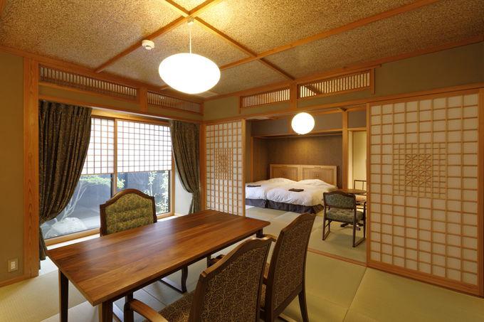利用しやすい本館の部屋と露天風呂付き離れの客室