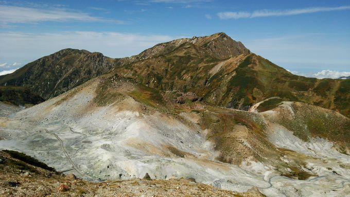 西に「地獄谷」、東に「雷鳥沢」の絶景が!