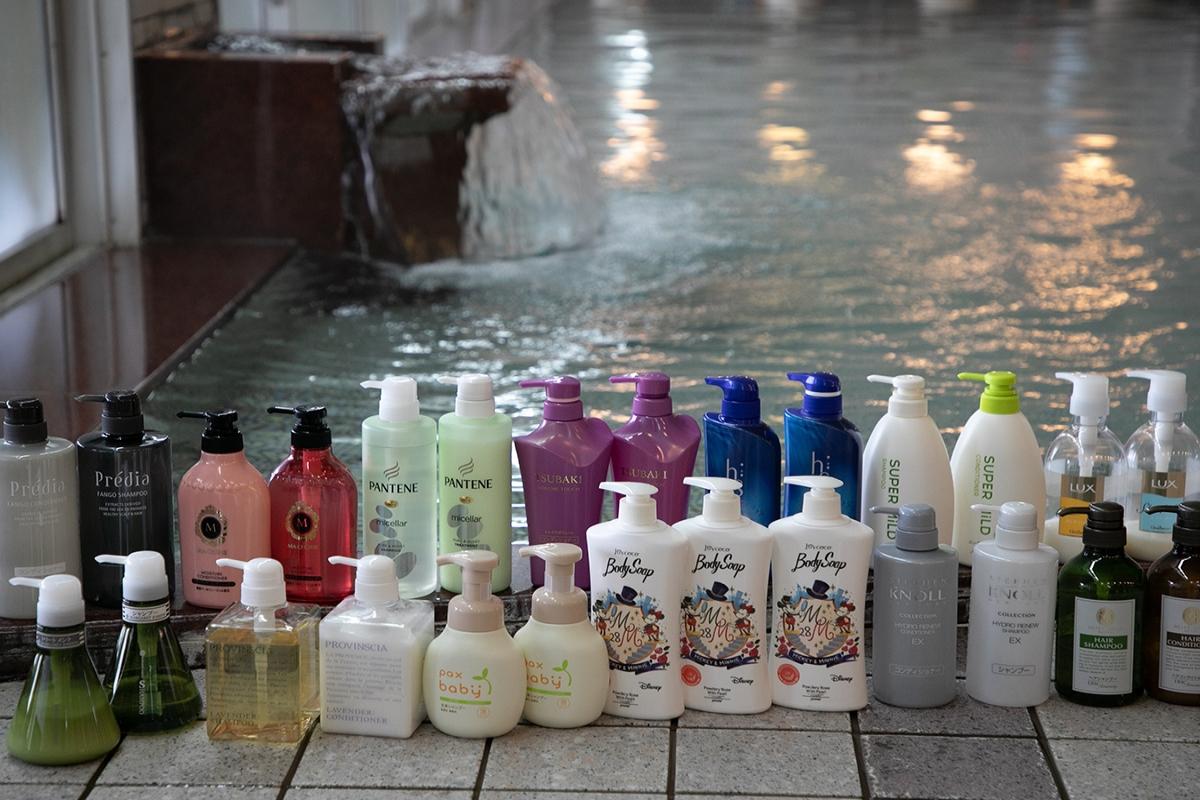 女性に嬉しいバラ湯とシャンプーバーが大浴場に!