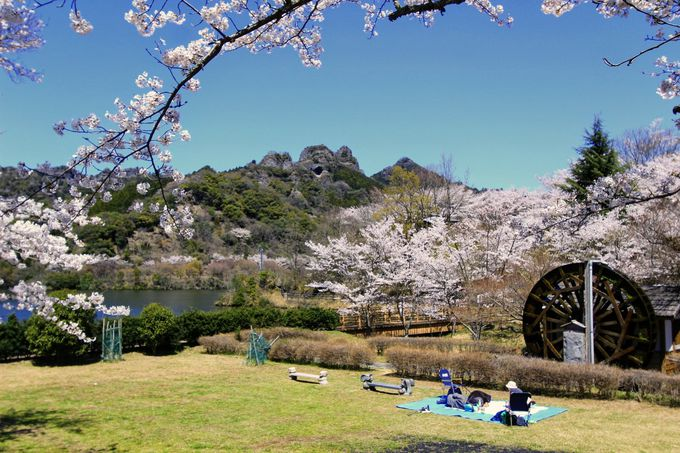 かつては鬼が住んでいた?こっとん村でほっこり桜とアートを鑑賞