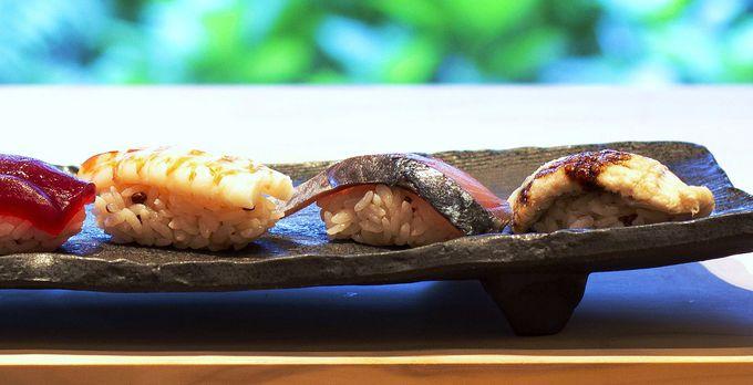 """旬の魚が活きる""""お寿司""""は、守屋隆明寿司職人が厳選"""