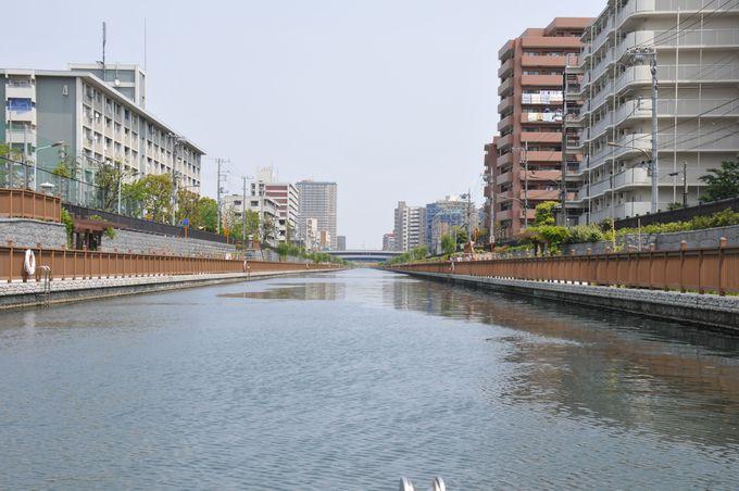 閘門通過後の小名木川