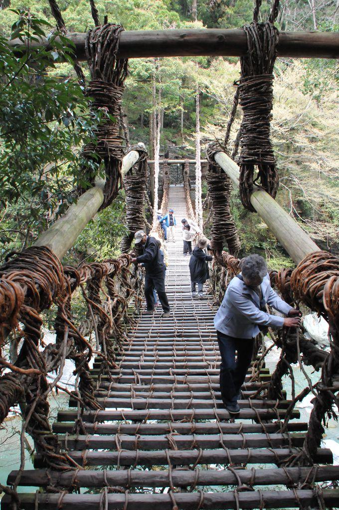 日本三奇橋「祖谷のかずら橋」はスリル満点の観光スポット