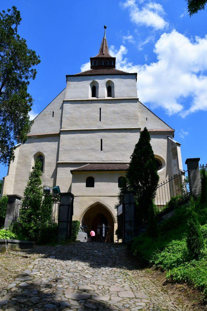 学生階段と山上教会