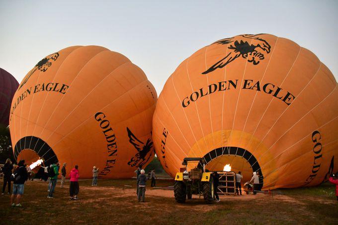 熱気球搭乗までの流れ