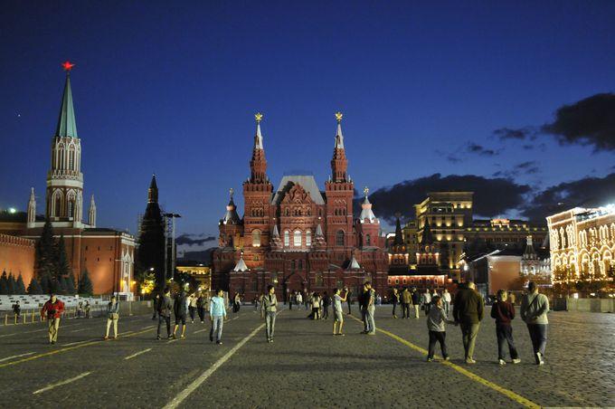 赤の広場の夜景