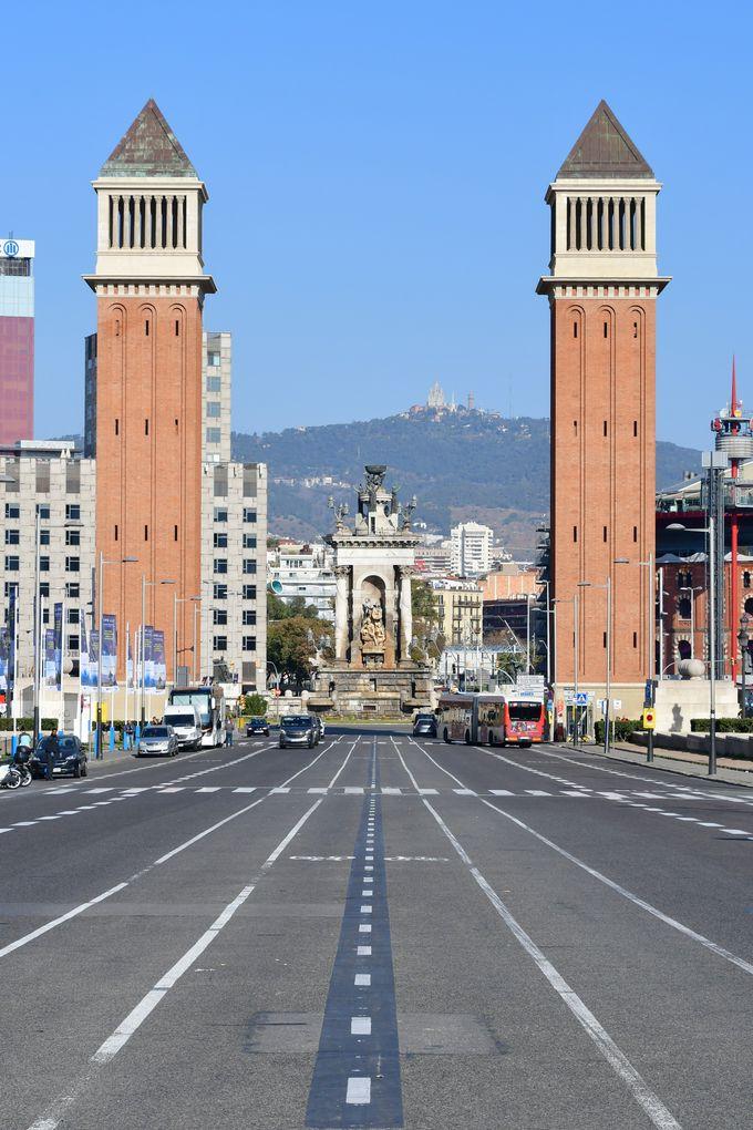 スペイン広場とカタルーニャ美術館