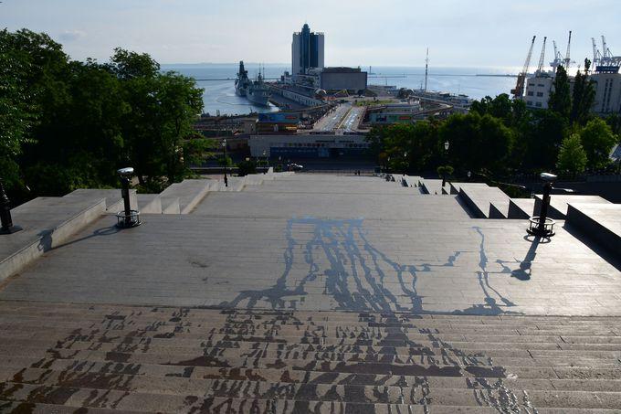 オデッサを代表する観光スポット、ポチョムキンの階段