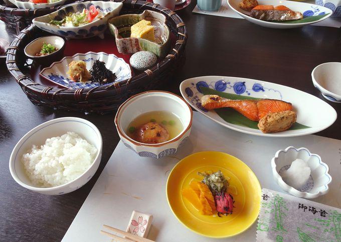 見た目も美しい和食の数々