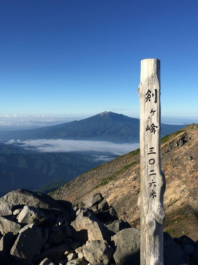 苦しさの果てに到達!乗鞍岳最高峰の剣ヶ峰
