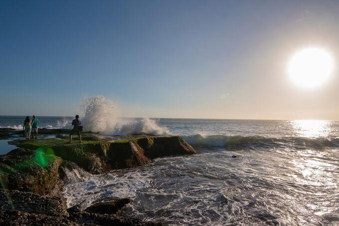 干潮時ならではの迫力ある景色