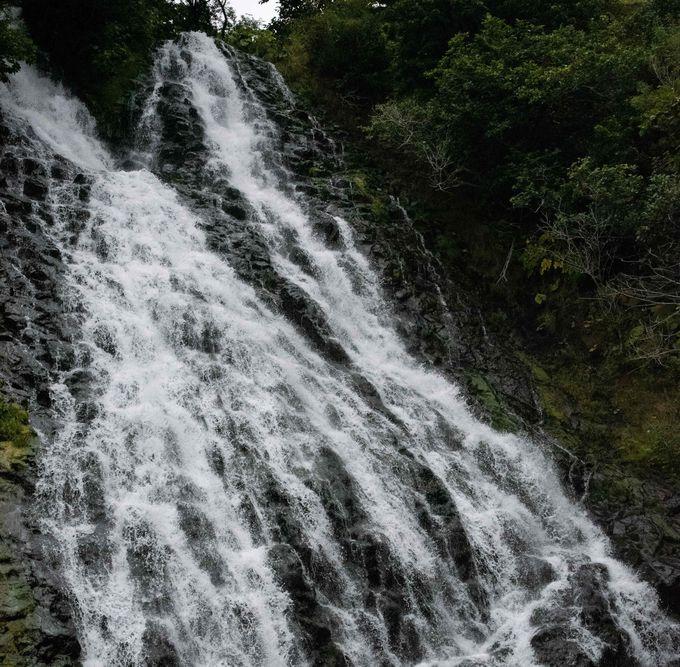 壮麗な2条の流れが心癒す オシンコシンの滝