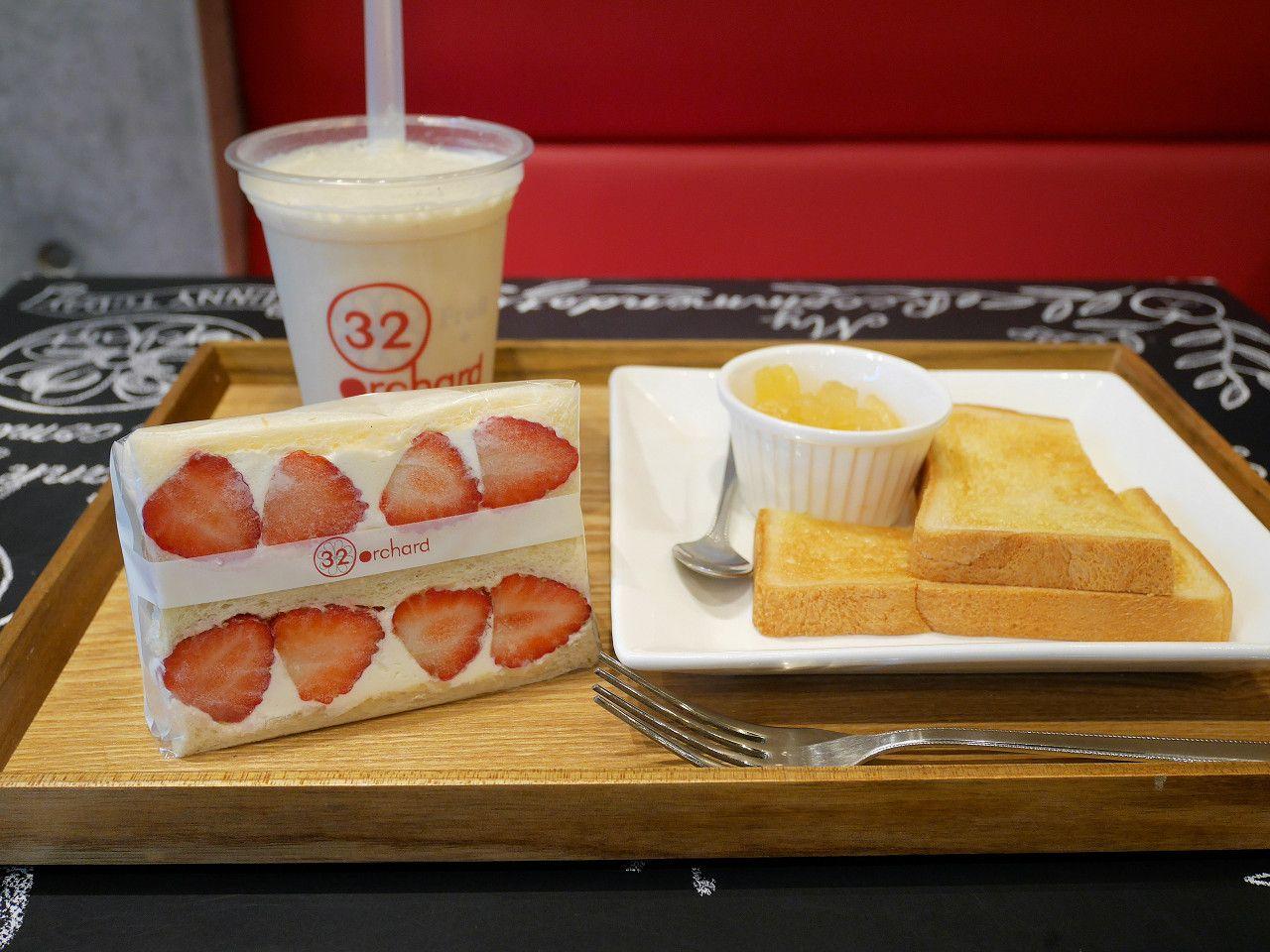 名古屋モーニングでフルーツサンドを!ささしまライブ駅「フルーツカフェ32orchard」