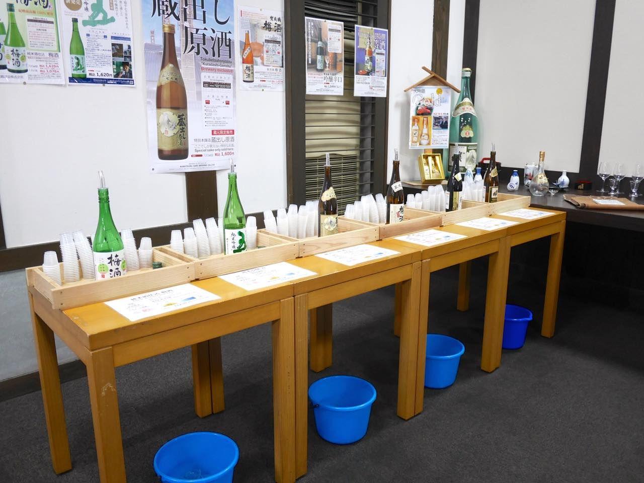 酒蔵見学室で自分好みの日本酒の味を見つけてみよう