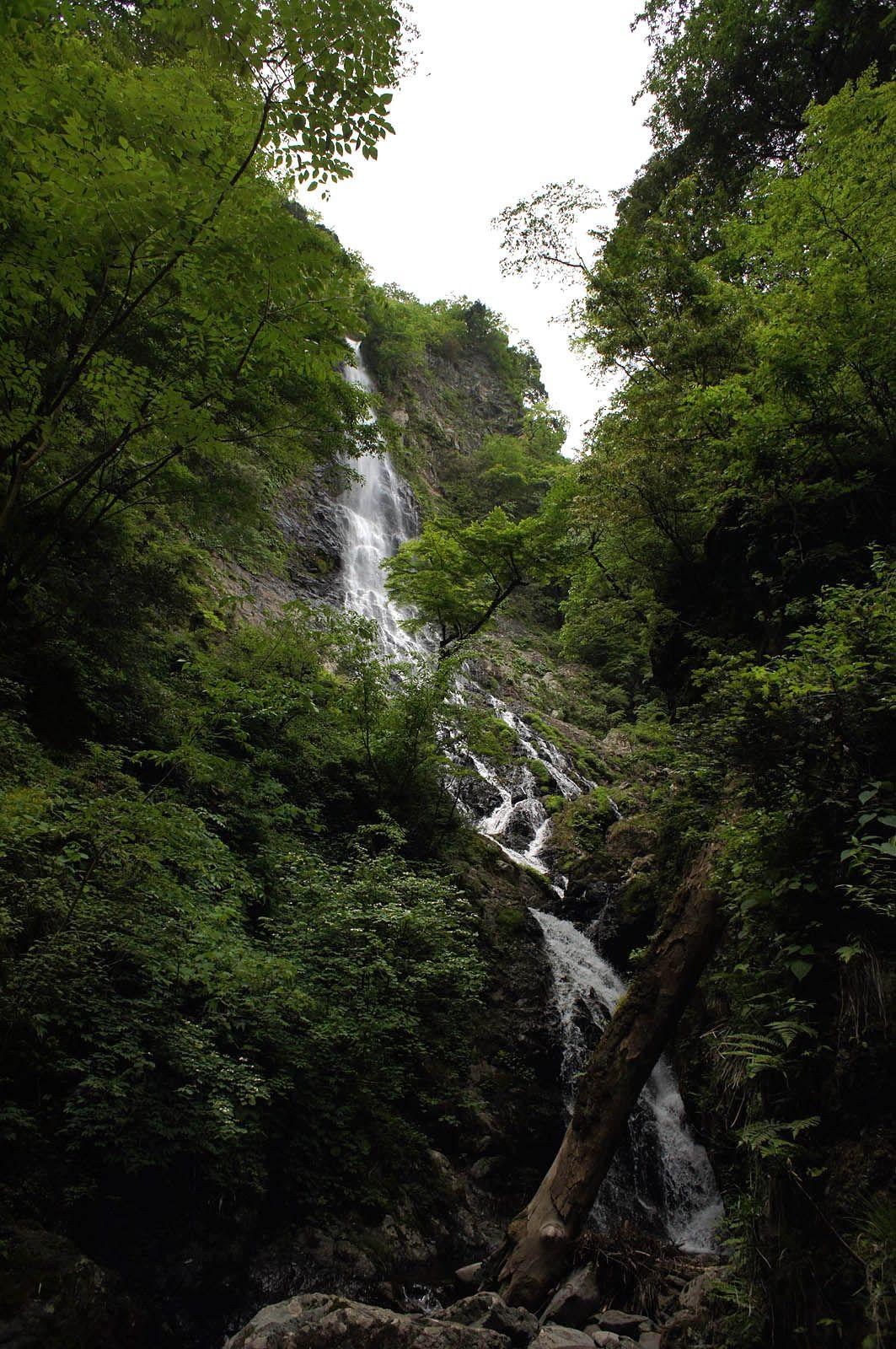 突然空から現れる天滝