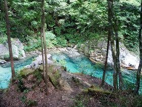 限りなく透明に近いブルーの川 〜阿寺渓谷(長野県大桑村)