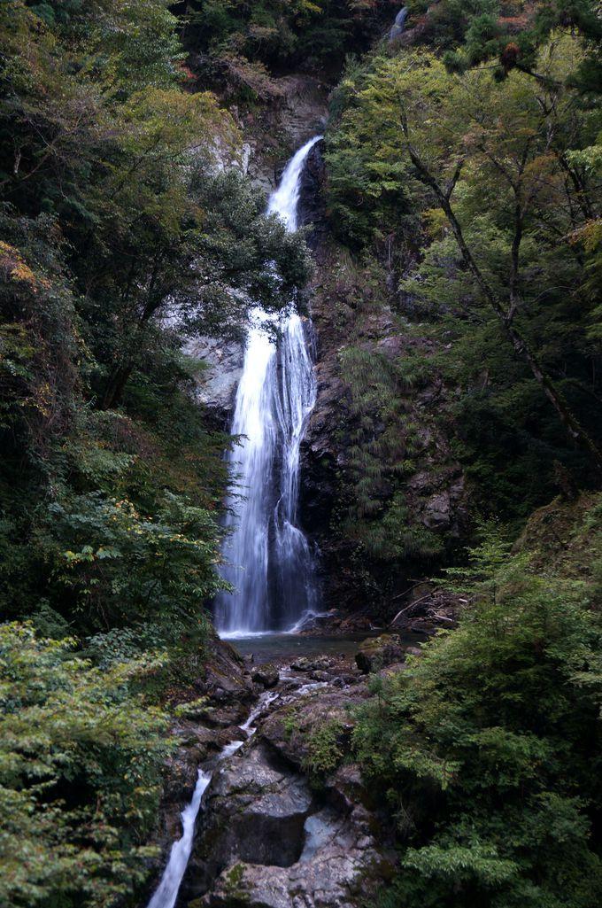 落差88mの3段の滝「原不動の滝」