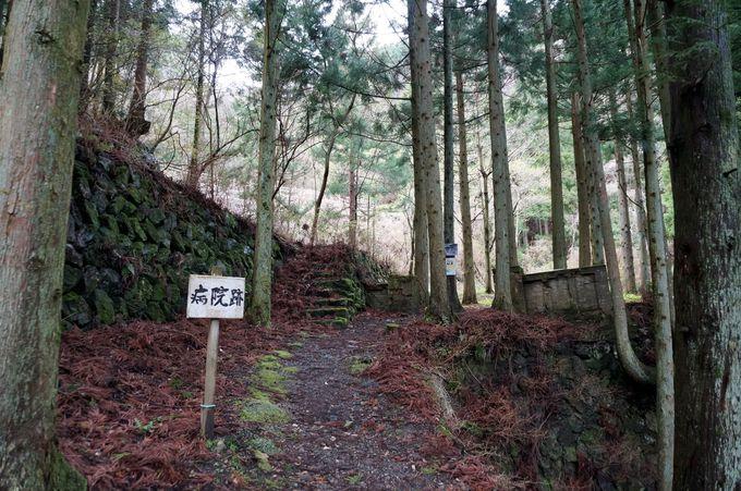 山中の残る人々が暮らした足跡