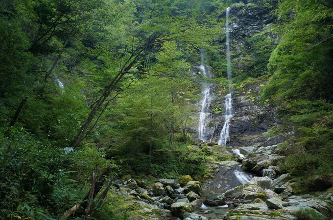 落差30mの癒やしの滝「昇竜の滝」(安居渓谷)