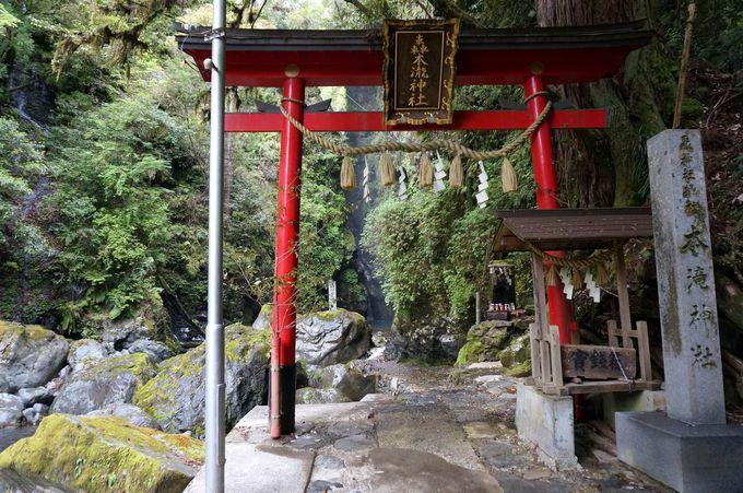 滝は鳥居の向こう側