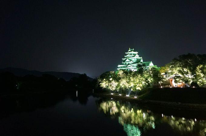 闇夜に浮かび上がる漆黒の烏城