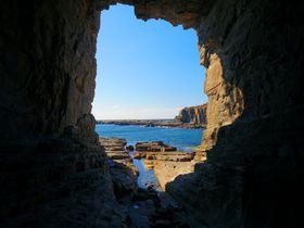 引き潮の時だけ道は現れる!南紀白浜・志原海岸「鳥毛洞窟」