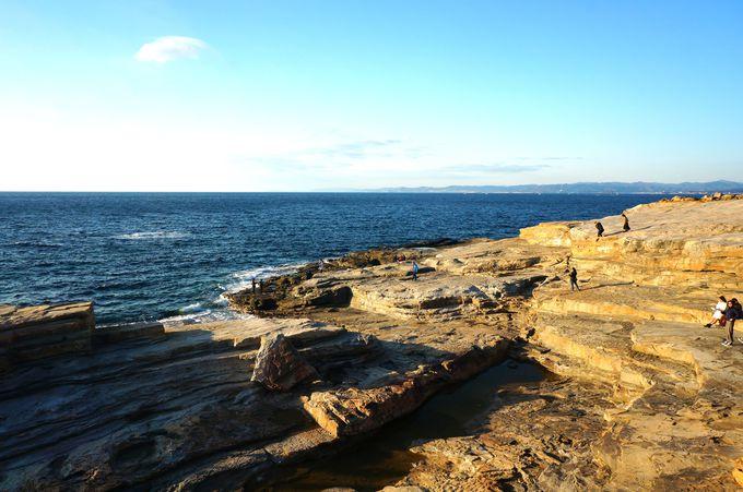 広い岩畳を思わせる大岩盤「千畳敷」