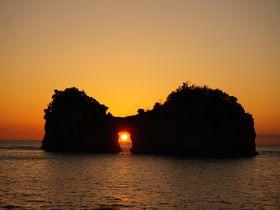 太陽が円月島に落ちる前に回りたい!南紀白浜の絶景海岸巡り
