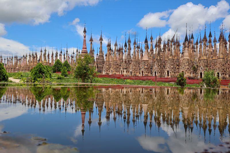 まるで仏塔の森に迷い込んだかのよう!ミャンマー「カックー遺跡」