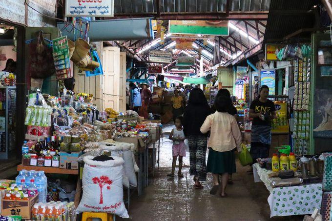 ダヌ族が多く暮らすピンダヤの街