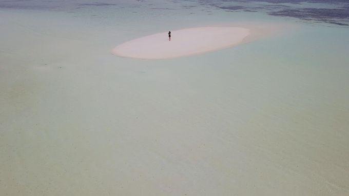 ヴィラからわずか1分で幻の島に到着!