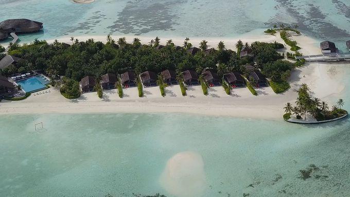 干潮時に現われる美しい島