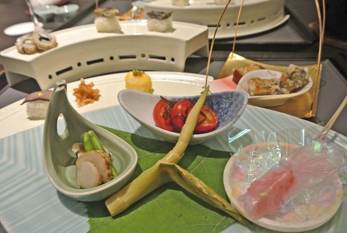 3時間目(PM6時〜):創作会席料理に舌鼓