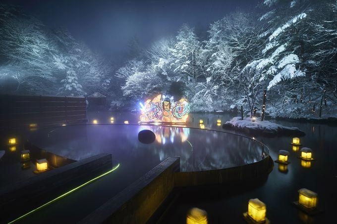 「浮湯」で絶景入浴を楽しむ