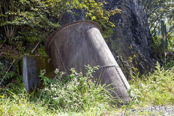 足尾銅山近代化への足掛かり、間藤水力発電所跡