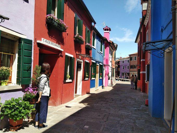 12.ブラーノのカラフルな家々(ベネチア・ブラーノ島)