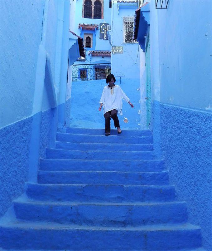 インスタ映えバッチリ!「青の街シャウエン」でブルーに染まる