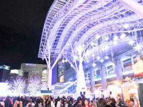 博多駅でイルミネーション!「光の街・博多」とクリスマスマーケット