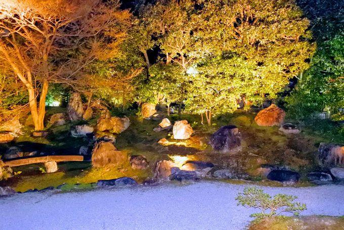 名勝・北庭のライトアップを眺めながらのんびり