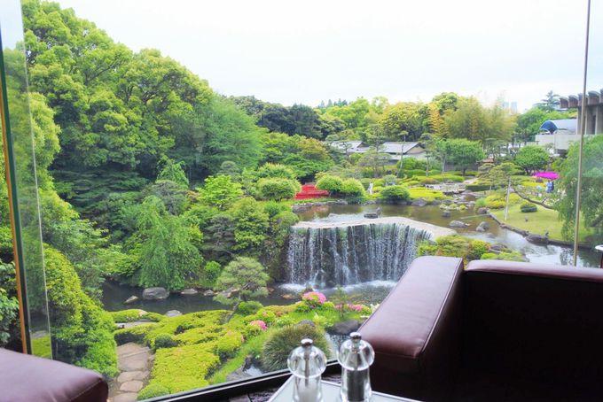日本庭園が一望!開放感あふれるガーデンラウンジ