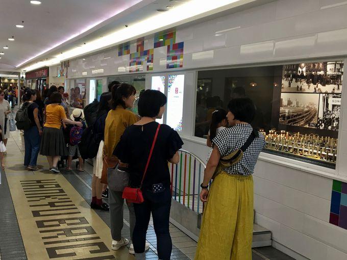 展示スペースは北館1階の通路