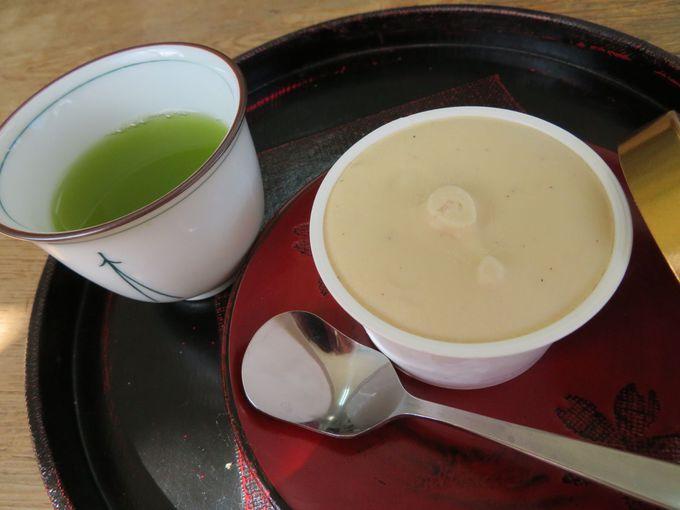 抹茶のソフトクリームが大人気!