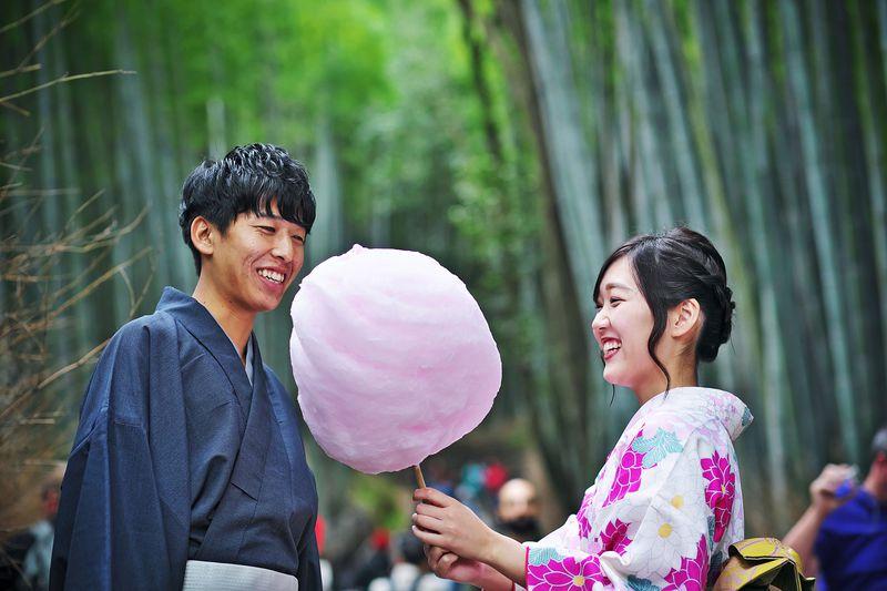 着物に映える京綿菓子!京都・嵐山「zarame」でおしゃれにフワフワ
