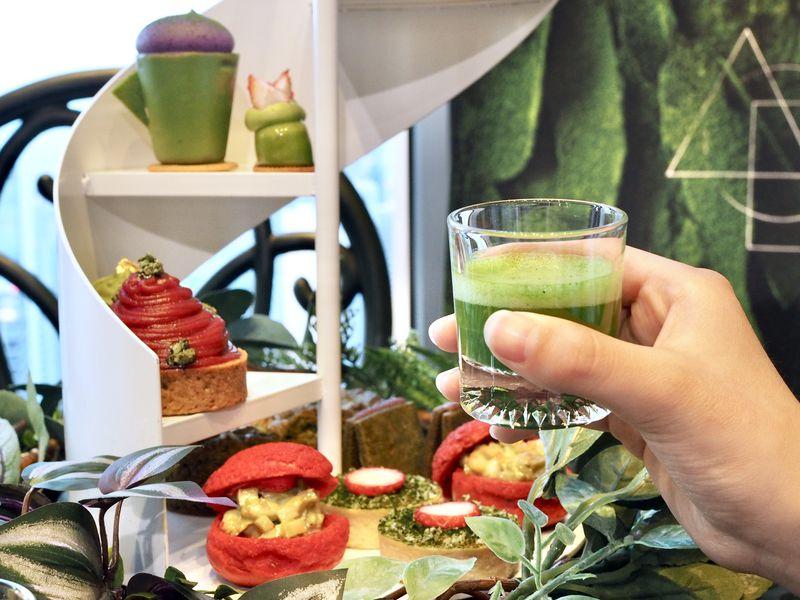 極上抹茶といちごの秘密の花園!コンラッド大阪・アフタヌーンティー