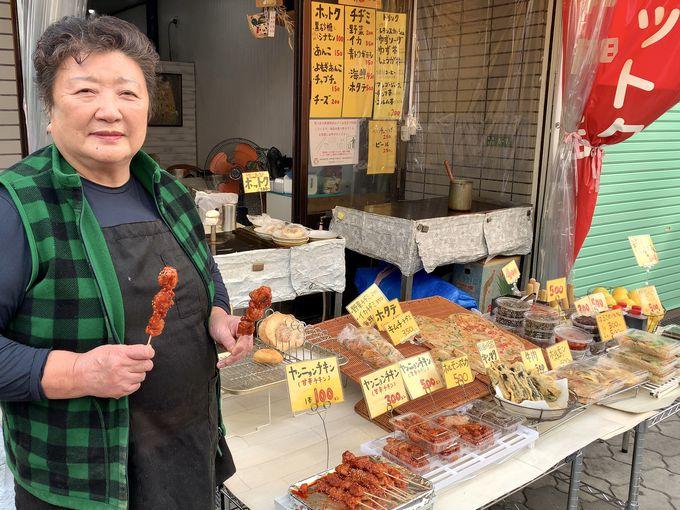 100円で食べ歩きができる!「のりちゃん」と「カズキ食品」